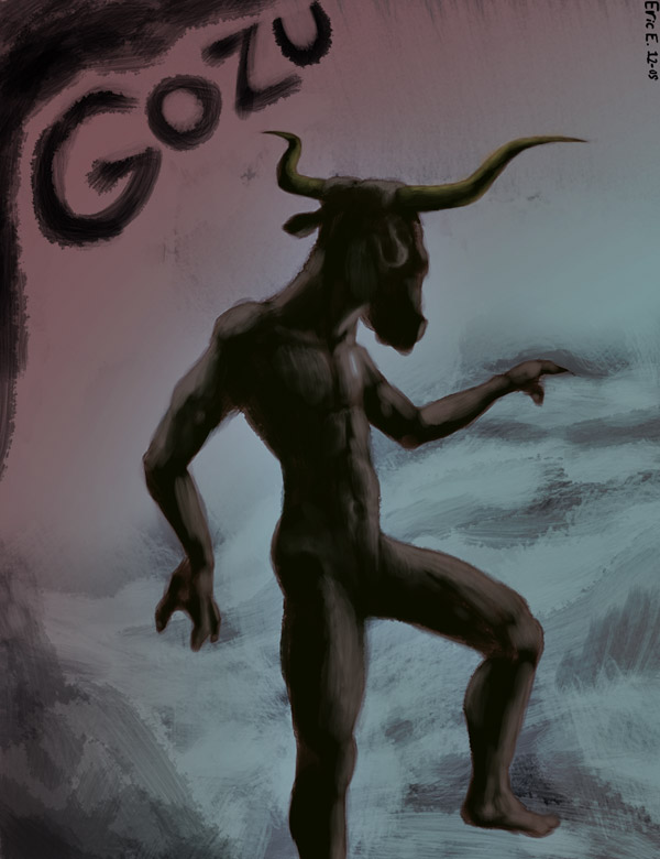 DSG 973: Creature: GOZU, A HUMAN-BODIED, BULL-HEADED DEMON